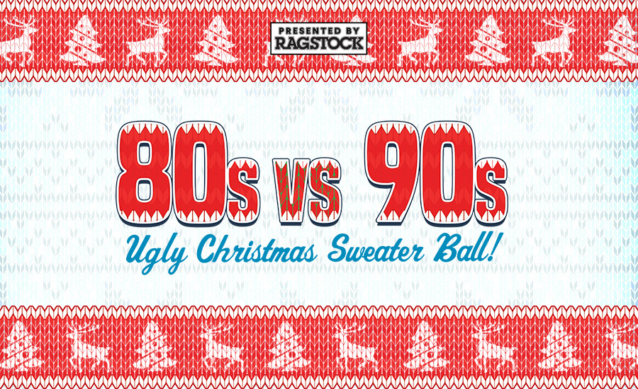 80s Vs 90s Ugly Christmas Sweater Ball Madison Wtf